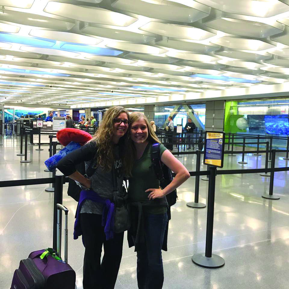 Emily Loy and Julie Tew, bot WSU alumni, set off for a year abroad to get their master's degrees in Glasgow, Scotland.