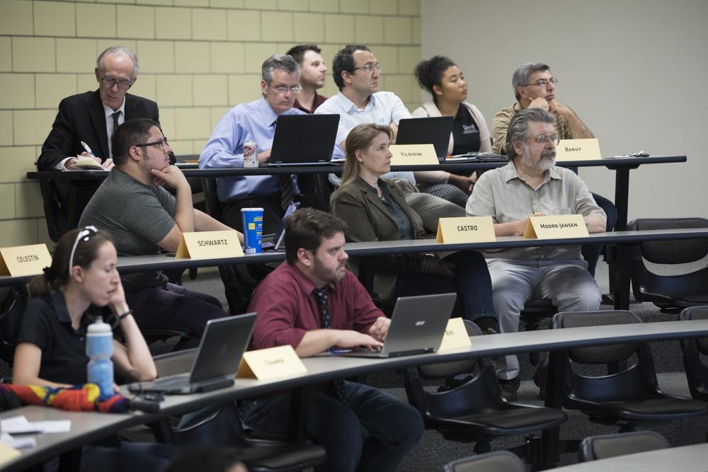 Faculty Senate meeting held on Oct. 9, 2017.