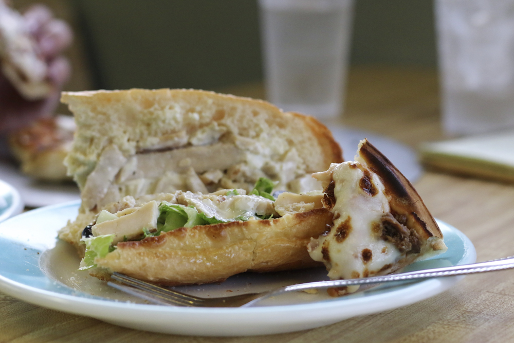 The Chicken Sandwich at Po Boy Pizza radiates the smell of Khourys homemade Italian sauce.