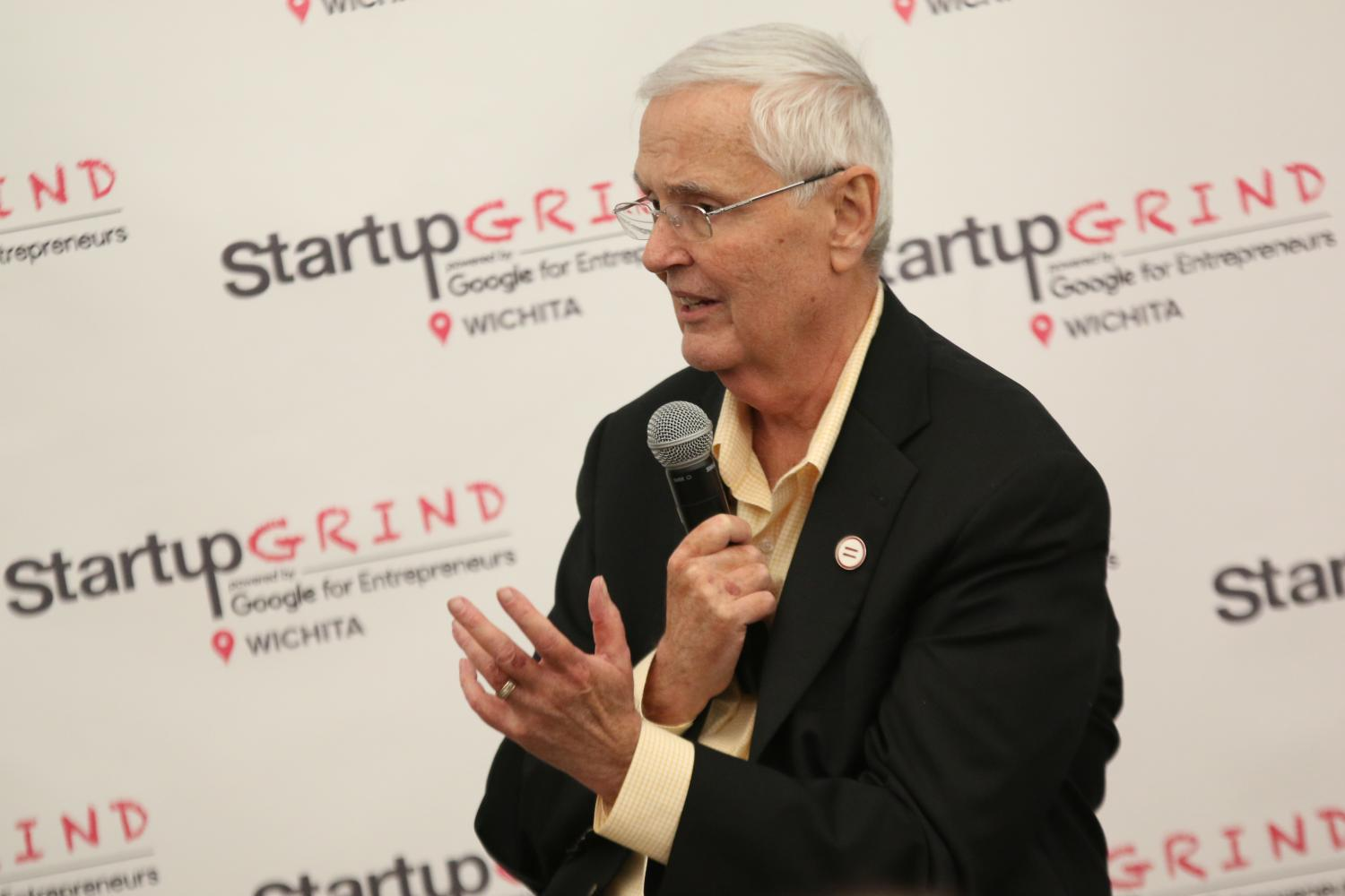 President John Bardo speaks at Startup Grind ICT at The Lux.