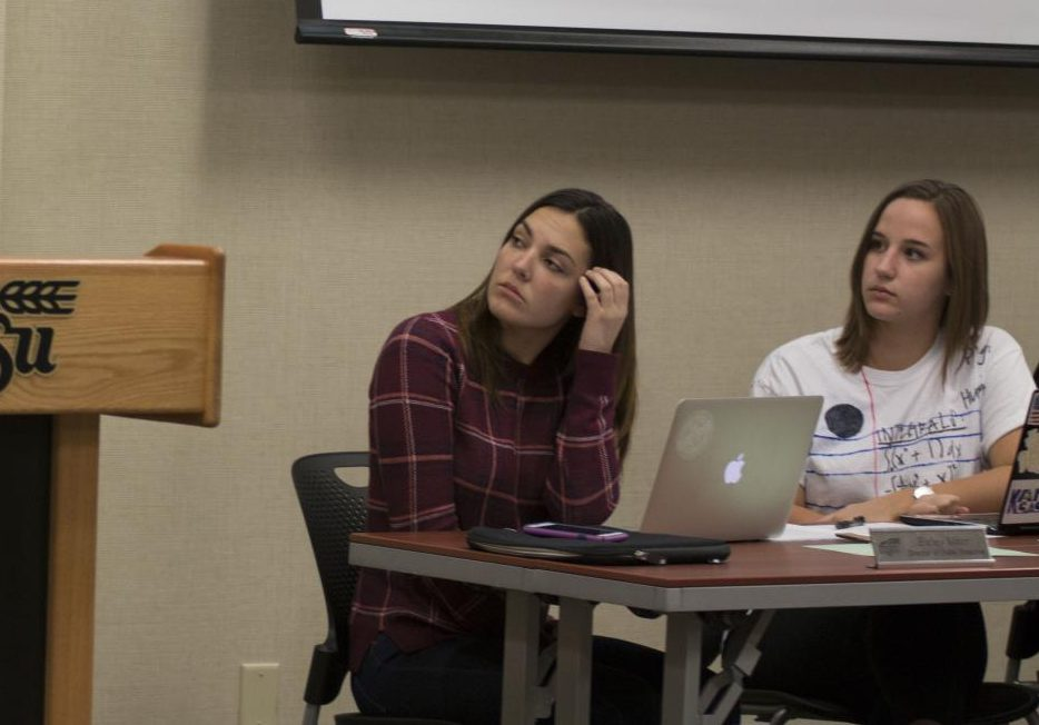 Bailey Minor, left, has resigned from her position as director of public relations with the Student Government Associate.