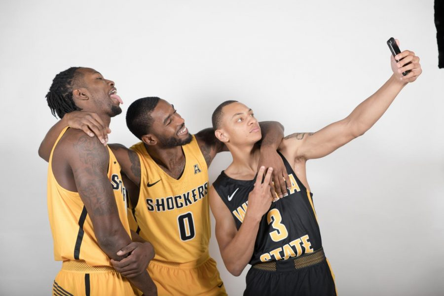 Zach+Brown%2C+Rashard+Kelly+and+C.J.+Keyser+take+a+selfie+during+a+photoshoot.+