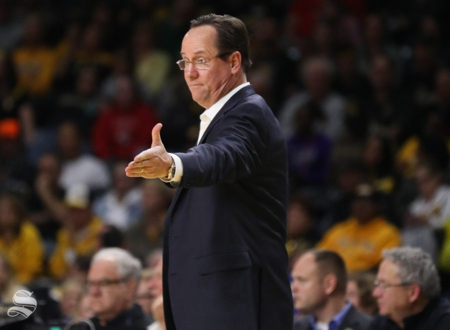 Wichita State Shockers head coach Gregg Marshall gestures after a play during the charity exhibition game against Newman.