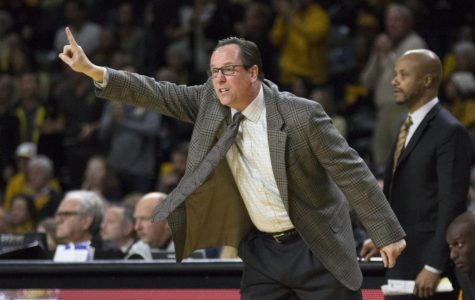 Wichita State Head Coach Gregg Marshall calls a play during the game against South Dakota State.