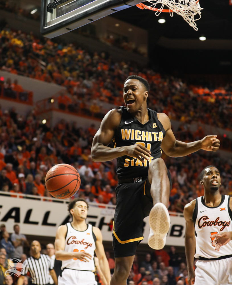 Wichita+State+forward+Darral+Willis+Jr.+makes+a+dunk+during+the+second+half+against+Oklahoma+State+Cowboys+in+Gallagher-Iba+Arena+on+Saturday.