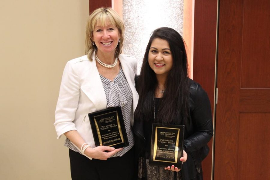 Christine+Schneikart-Luebbe+%28left%29%2C+and+Misha+Nazir+were+two+of+the+2017+Phenomenal+Women+Award+recipients.