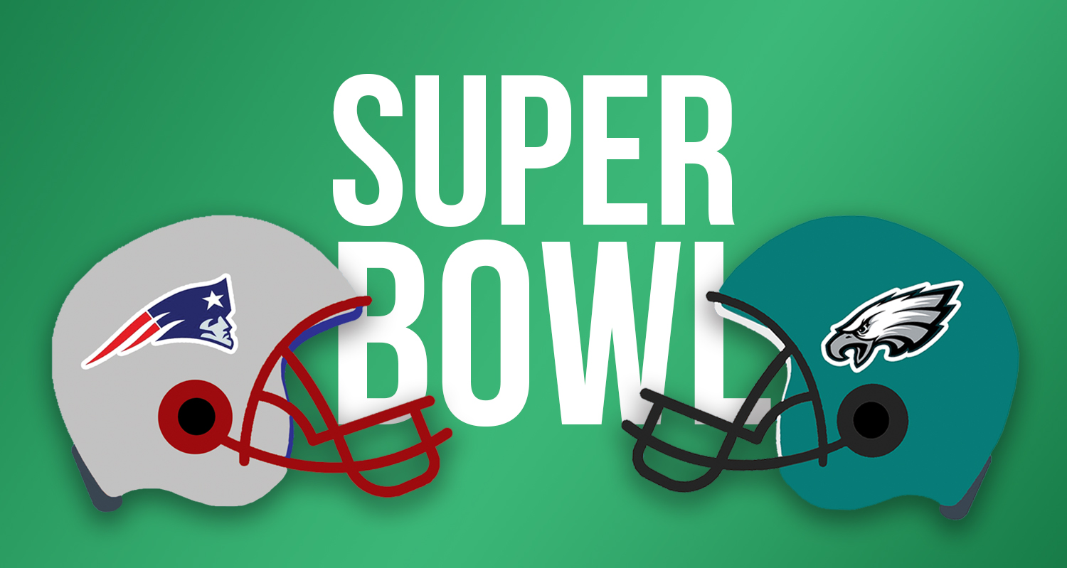 The New England Patriots and Philadelphia Eagles will face off in Super Bowl LII.