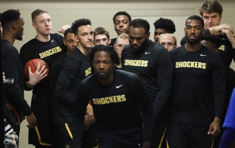 Wichita State Shockers exit the tunnel unto the court before the game against the Tulsa Golden Hurricane in Reynolds Center.