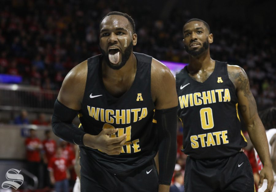 February+24%2C+2018%3A+Wichita+State+center+Shaquille+Morris+reacts+after+colliding+with+an+SMU+player+Saturday+at+SMU.