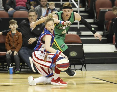 Former Shocker turns ball-spinning hobby into career with Harlem Globetrotters