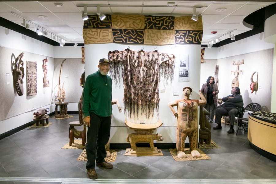 Traditional West African arts are exhibited at Cadman Art Gallery by Mohamed Sharif. He calls the gallery as a