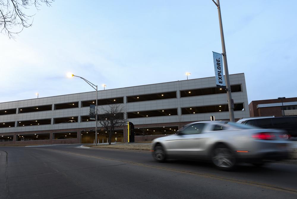 Rhatigan Student Center parking garage file photo