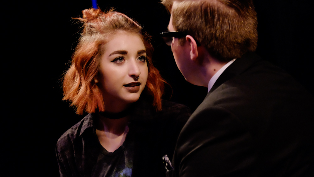 """Katie Robu is a first-year student from the school of Art and Design. She plays as Marcy in """"I Love You Because."""""""