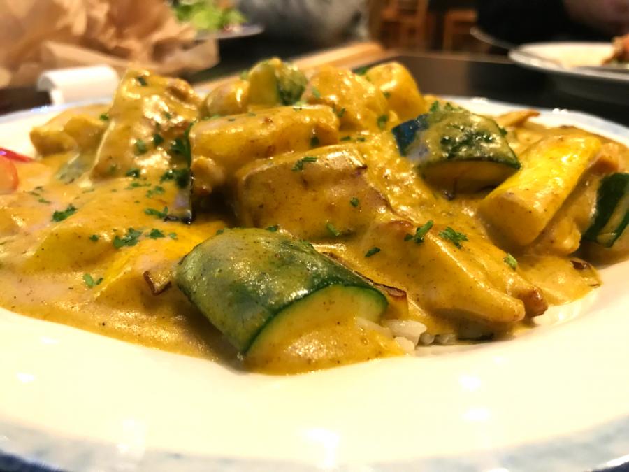 Curry Chicken Biryani served at College Hill Deli.