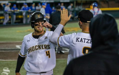 Shocker baseball wins after tough game with umpires