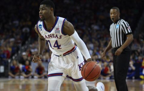 Kansas guard Malik Newman drives to the basket. The Jayhawks defeated No. 16 Penn in the opening round of the NCAA Tournament at INTRUST Bank Arena in Wichita.