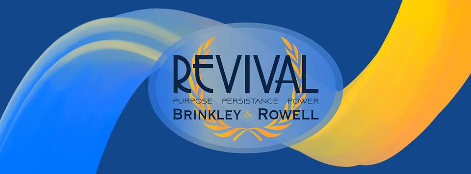 """Senators Kenon Brinkley and Shelby Rowell's logo for their campaign ticket """"Revival."""""""
