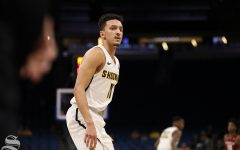 Wichita State guard Landry Shamet looks on during the Shockers victory over Temple in the American Conference Tournament quarter-finals.