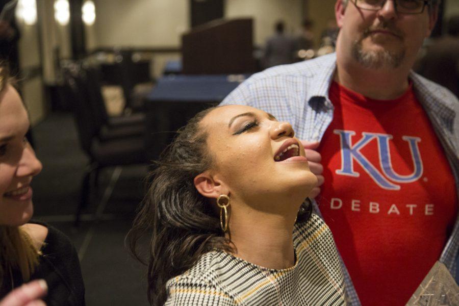 Quaram Robinson is part of the KU debate team that won National Debate Tournament held by WSU.