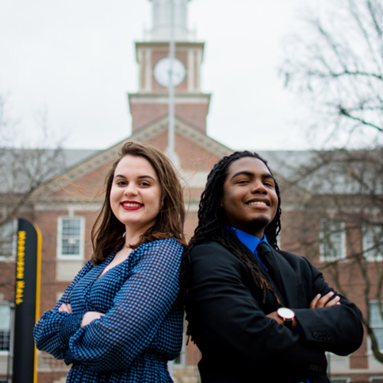 Shelby Rowell (left) and Kenon Brinkley (right) were elected SGA Vice President and President, respectively. The pair ran unopposed.