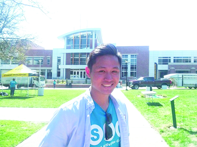 Melvin Kong has thoroughly enjoyed serving as the vice president of membership for the Student Activities Council.