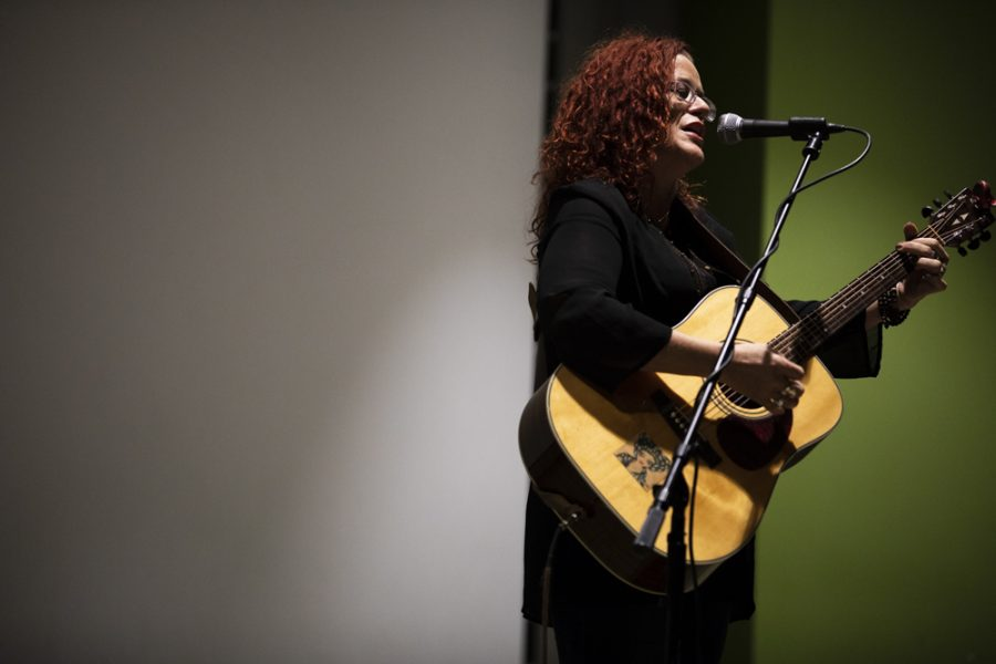 Lalanea Chastain performs in Hubbard Hall during the EMPOWER! event to benefit the Wichita Area Assault Center.