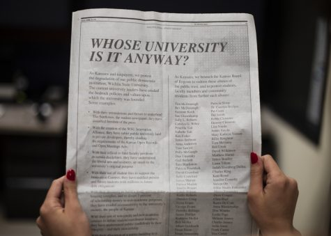 'Friends of the University' protest Wichita State leaders