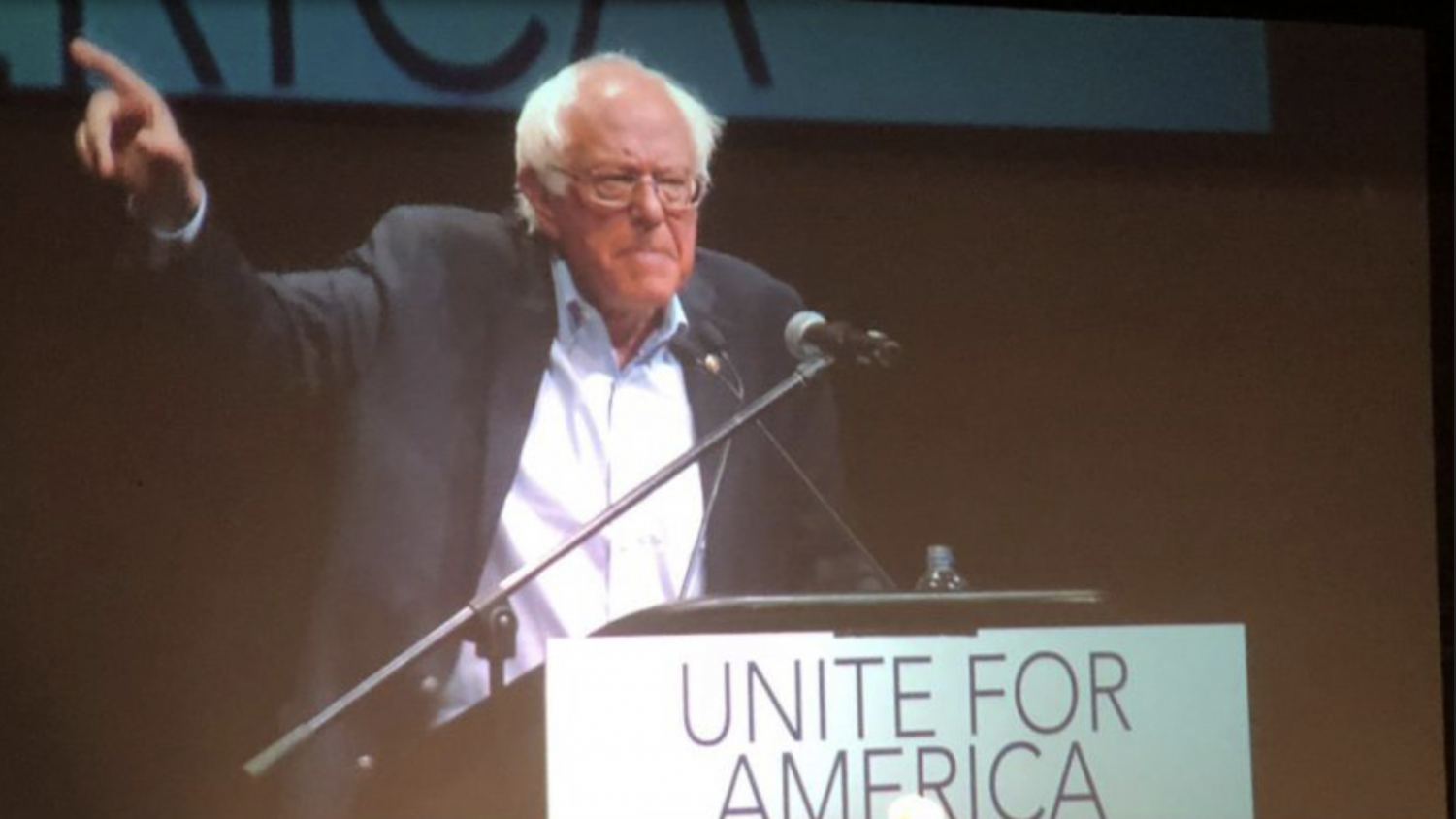 Former Democratic presidential candidate Bernie Sanders rallies for James Thompson July 20 at Century II Convention and Performing Arts Center.