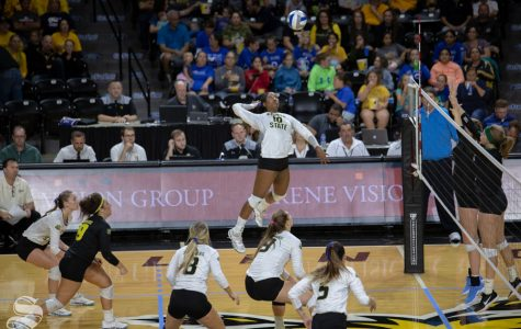 Volleyball out of first place for the first time since joining AAC