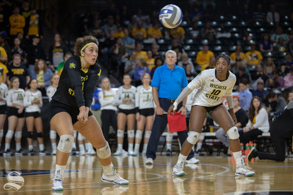Wichita+State%27s+Giorgia+Civita+returns+a+serve+during+their+game+against+Tulane+on+Friday+evening+at+Koch+Arena.+%28Sept.+21%2C+2018%29