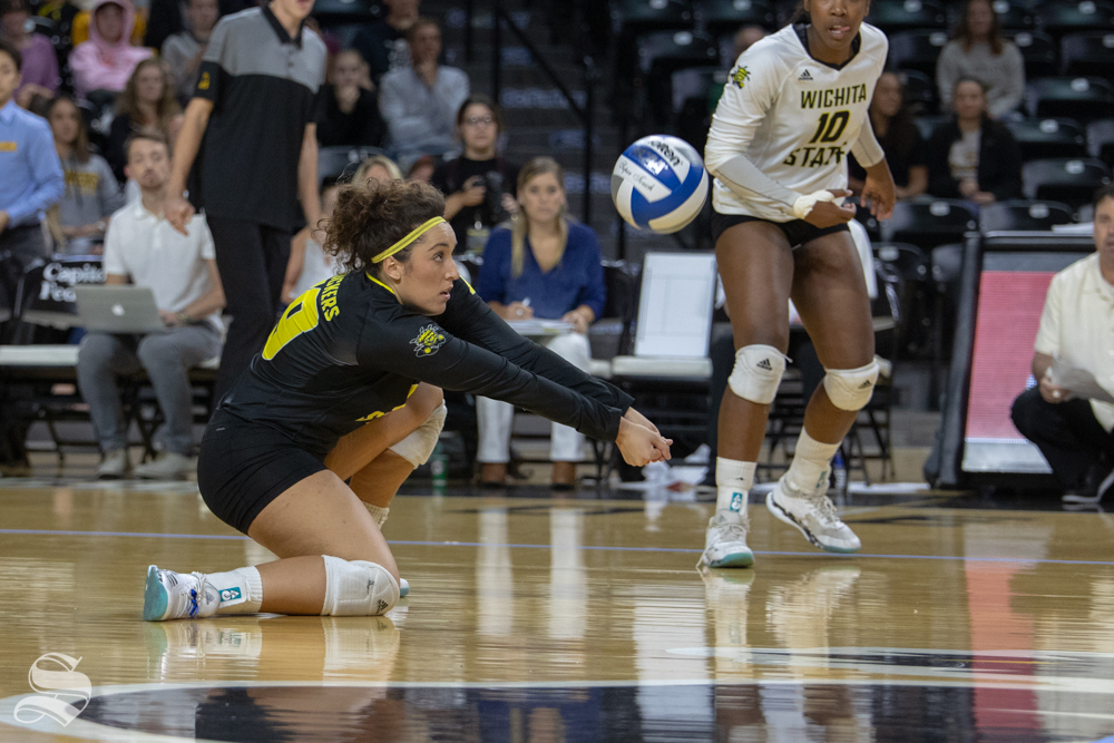 Wichita+State%27s+Giorgia+Civita+digs+a+ball+during+their+game+against+Tulane+on+Friday+evening+at+Koch+Arena.+%28Sept.+21%2C+2018%29