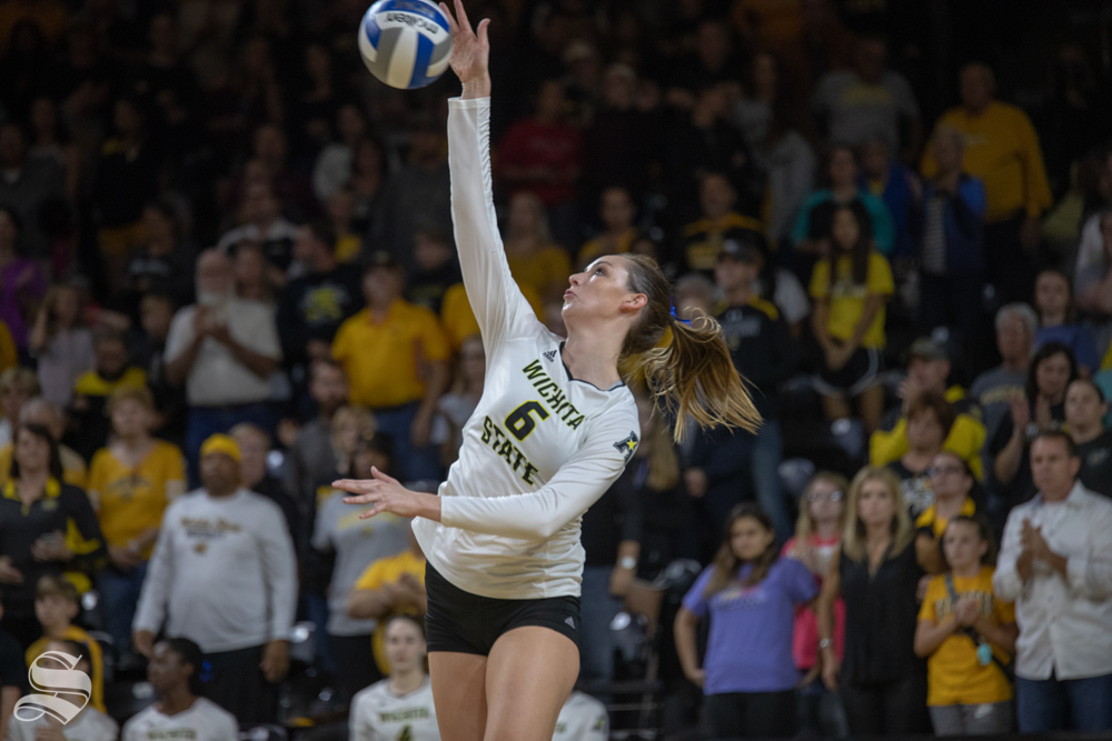 Wichita State middle blocker sustained injury in the fourth set of Friday's home-opener. She will miss six weeks of play with a broken thumb.