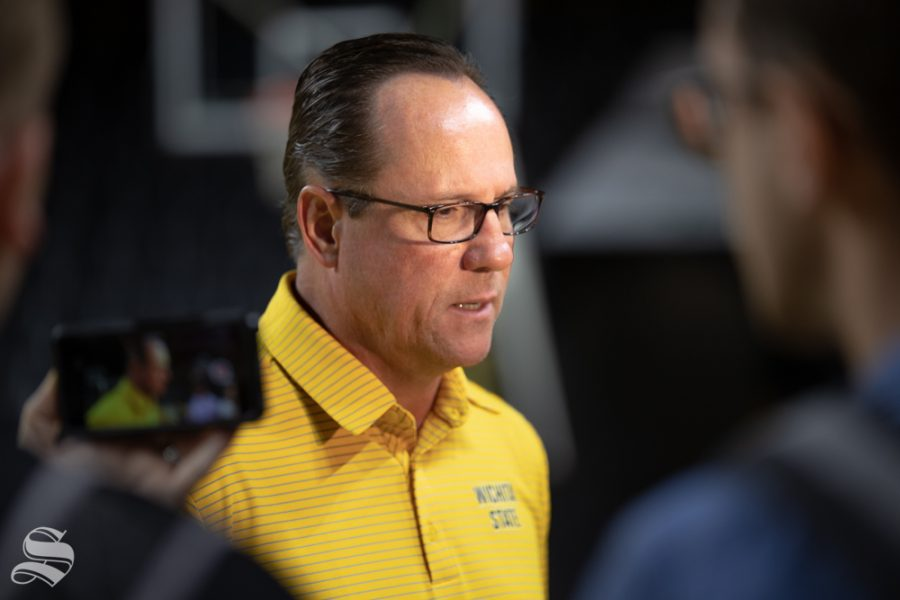 Wichita+State%27s+Head+Coach+Gregg+Marshall+speaks+to+media+about+the+upcoming+season+on+Sept.+25%2C+2018+in+Koch+Arena.