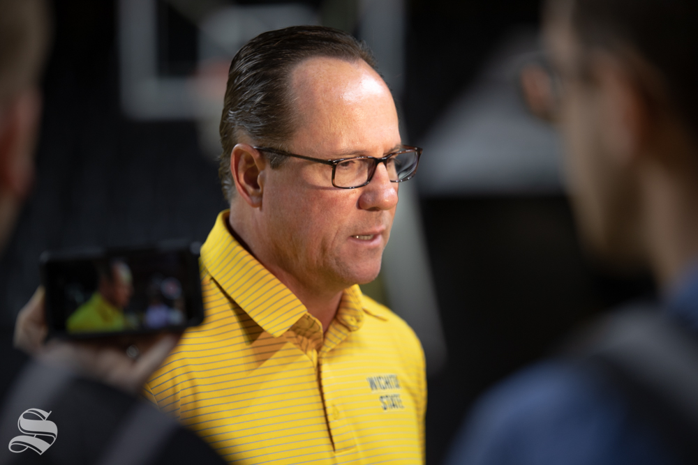 Wichita State's Head Coach Gregg Marshall speaks to media about the upcoming season on Sept. 25, 2018 in Koch Arena.