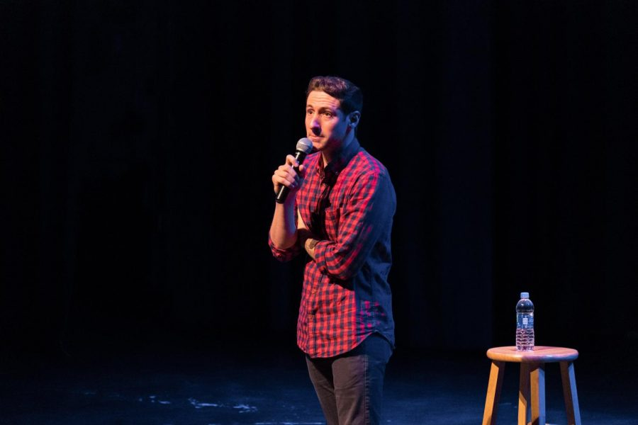Samuel J Comroe is a stand-up comedian who is also the 2018 Americas Got Talent finalist. He performs a show I Got 99 Problems But a Twitch aint one, at CAC theater on Fonday, Sep. 21, 2018.