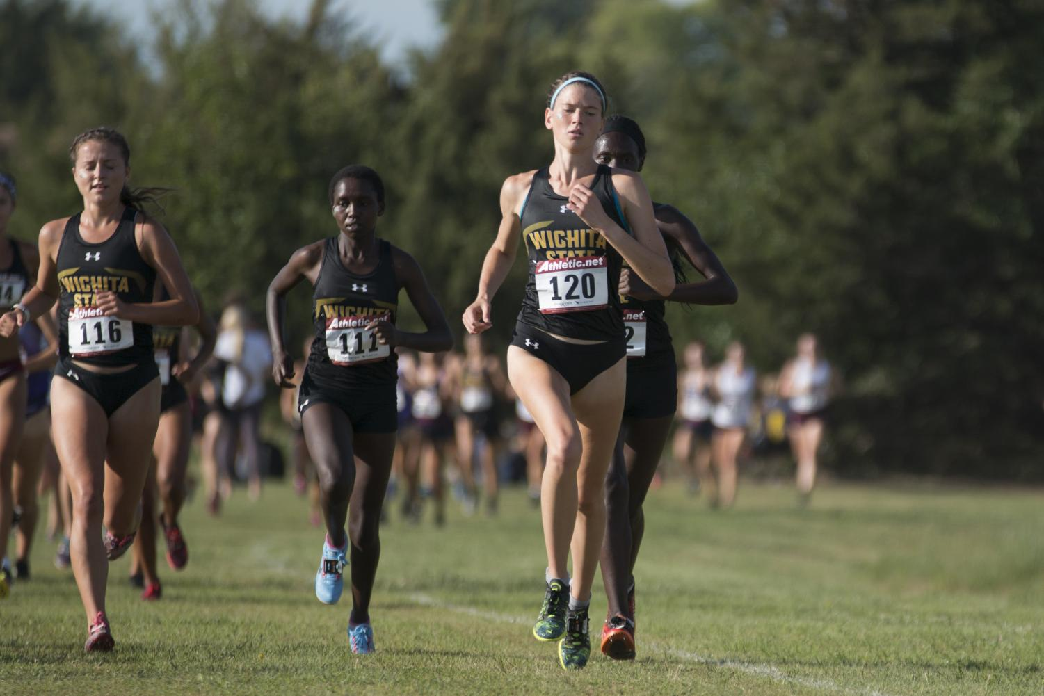 September 1, 2018: Women's Cross Country runners compete in the 4000 M during the J.K. Gold Classic, Saturday, Sept. 1, 2018.