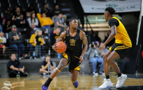 Shocker men, women on display at Black and Yellow Scrimmage