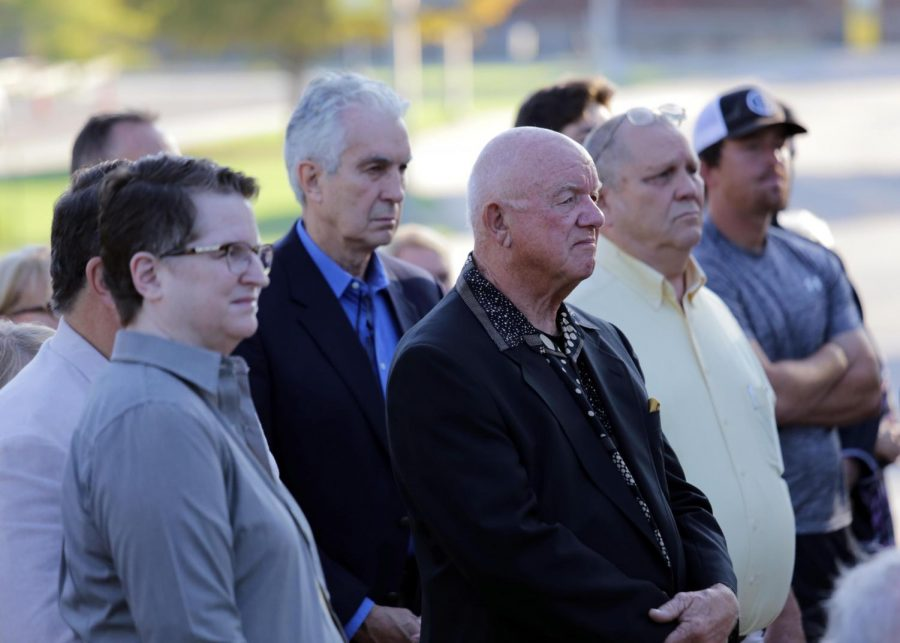 Members of the Wichita State community gathered Tuesday morning to mourn the 31 lives lost when a plane carrying members of the Wichita State football team crashed into a mountainside on Oct. 2, 1970. Wichita State memorializes the incident every year at Football Memorial '70.