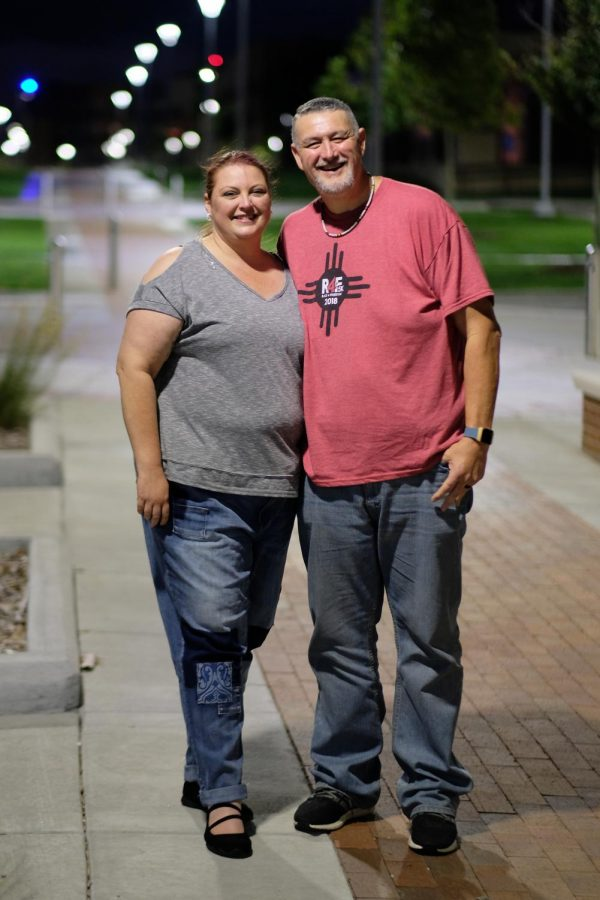 Heather (Left) and John (Right) Hill are married couple who are also undergraduate students at Wichita State University.
