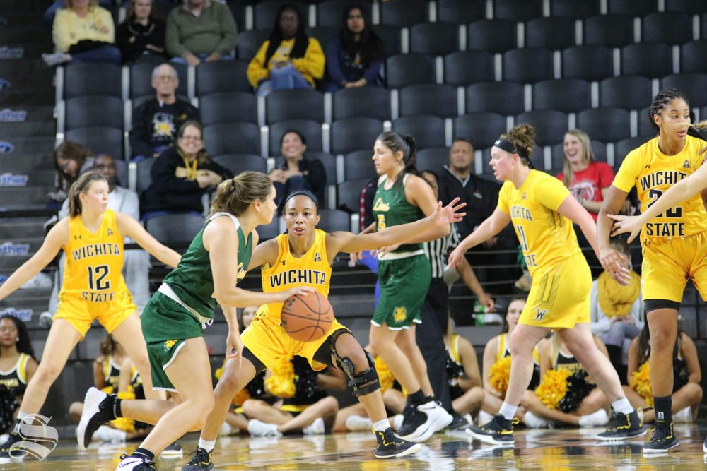 Ashley+Reid+blocks+her+opponent+during++the+exhibition+game+against+Missouri+Southern+State+on+November+1.