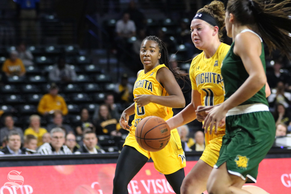 Sabrina+Lozada-Cabbage+dribbles+the+ball+during++the+exhibition+game+against+Missouri+Southern+State+on+November+1.