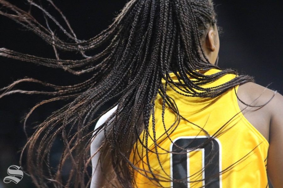 Jada Peacock pivoting during the exhibition game against Missouri Southern State on November 1.