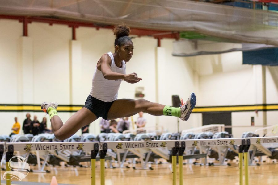 Wichita+State%27s+Tianna+Holmes+competes+in+the+60m+hurdles+during+the+intrasquad+meet+Friday%2C+Dec.+7%2C+2018.