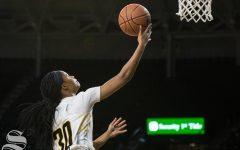 Women's basketball misses return flight to Wichita