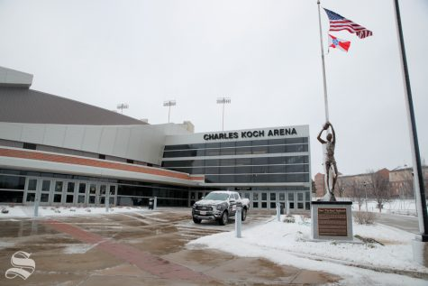 Charles Koch Arena was selected as an early voting period. (Photo by Joseph Barringhaus/The Sunflower).