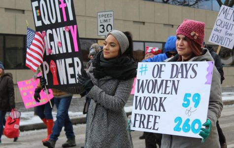 Bitter cold doesn't stop the Women's March-Air Capital