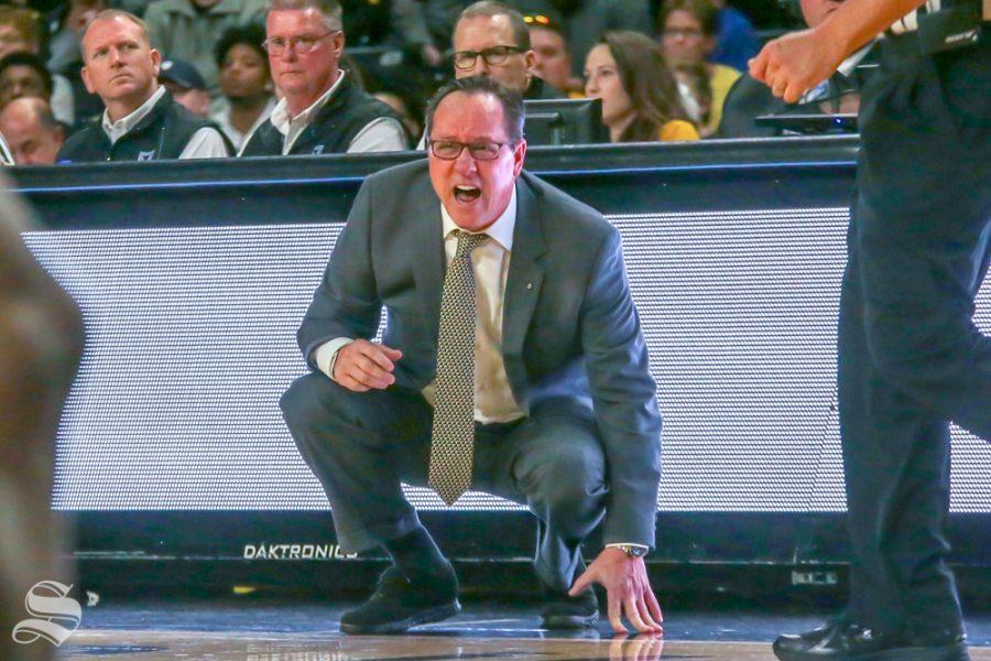 Wichita State Head Coach Gregg Marshall on Jan. 6, 2019 at Charles Koch Arena.