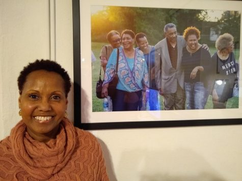 Carol Cole was not only an attendee, but also a subject in one of the portraits.