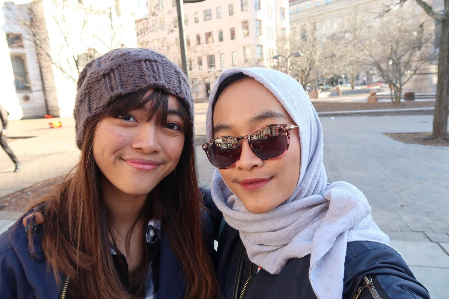 Sisters and Wichita State students Larasati Poerbaningrum (left) and Lestari Poerbaningtyas (right) are from Java — one of more than 18,000 Indonesian islands.