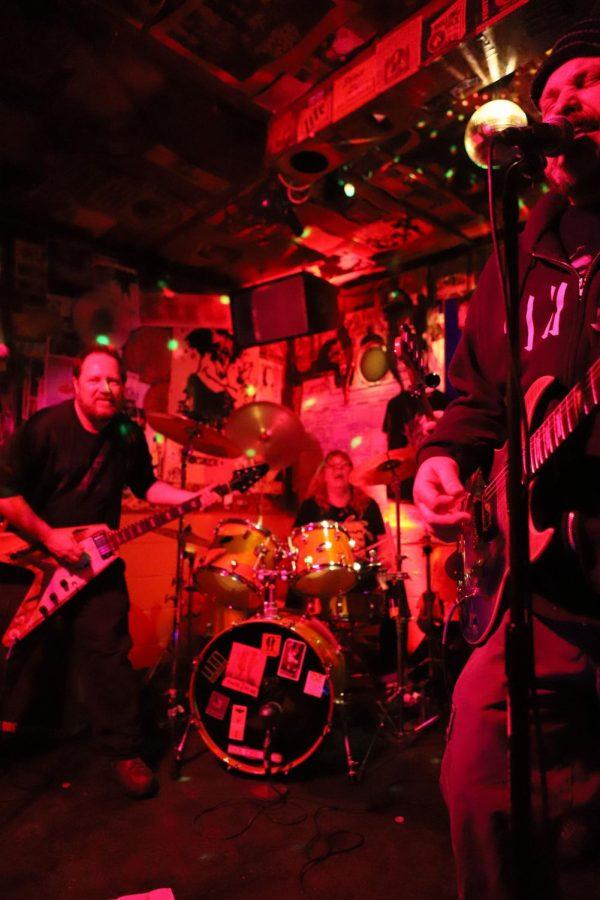Local Wichita punk veterans False Flag blow through a set at Saturday evenings Meat Fest.